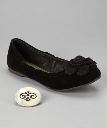 Black Velvet Bella Flat - Women