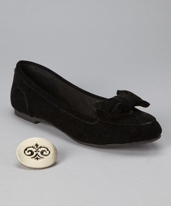 Black Bow Micki Flat - Women