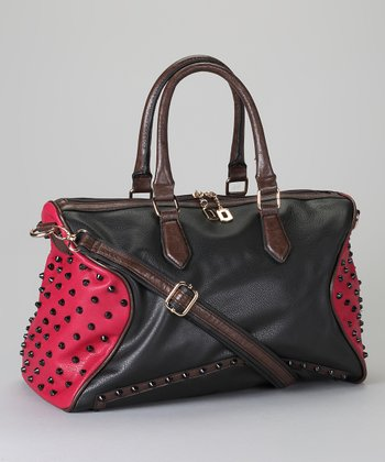 Black Studded Satchel