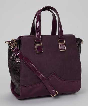 Purple & Snake Embossed Tote