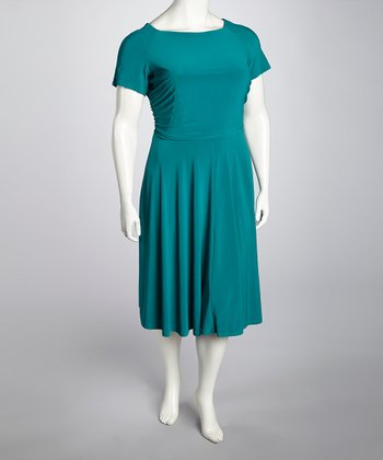 Sea Jade Dress - Plus