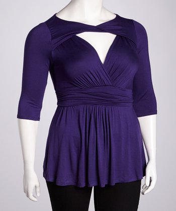 Purple Passion Athena Twist Top - Plus