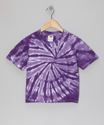 Purple Tie-Dye Tee - Toddler & Kids