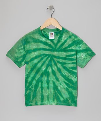 Green Tie-Dye Tee - Toddler & Kids