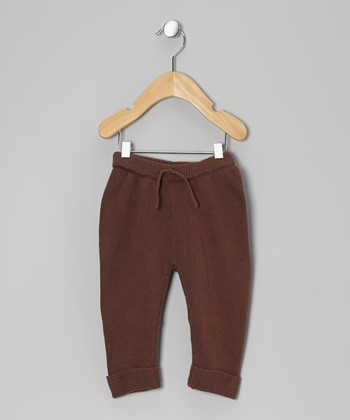 Brown Knit Pants - Infant