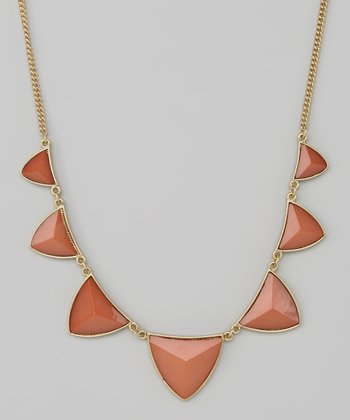 Rose & Gold Triangle Necklace