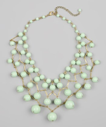 Light Green Bubble Bib Necklace