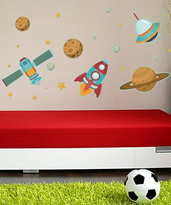 Space Ships Wall Decal Set