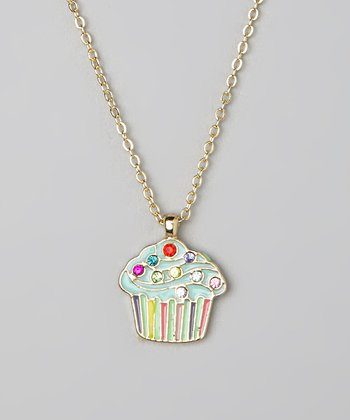 Green Cupcake Pendant Necklace