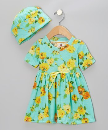 Wild Flowers Dolly Dress & Beanie - Infant