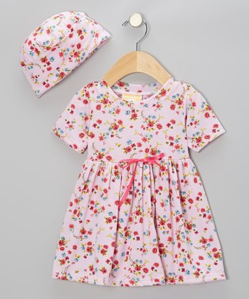 Pink California Country Dolly Dress & Beanie - Infant & Toddler