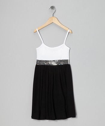 Black & White Sequin Dress