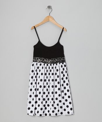 Black Polka Dot Sequin Dress