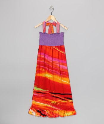 Rated G Red & Purple Maxi Dress