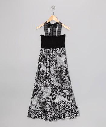 Rated G Black & White Leopard Maxi Dress