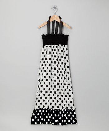Rated G Black & White Polka Dot Maxi Dress