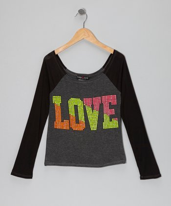 Black 'Love' Top