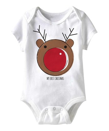 White Rudolph Bodysuit - Infant