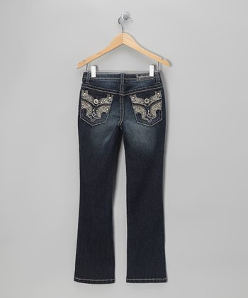 Tad Flap-Pocket Bootcut Jeans - Girls