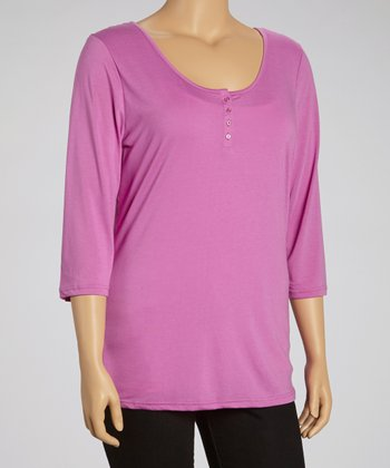 Orchid Lace Henley - Plus