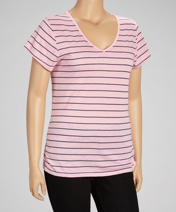 Ballet Trusse Lace Stripe Top - Plus