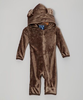 KicKee Pants Bark Velour Hooded Romper - Infant