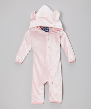 KicKee Pants Lotus Velour Hooded Romper - Infant