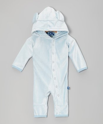 KicKee Pants Pond Velour Hooded Romper - Infant