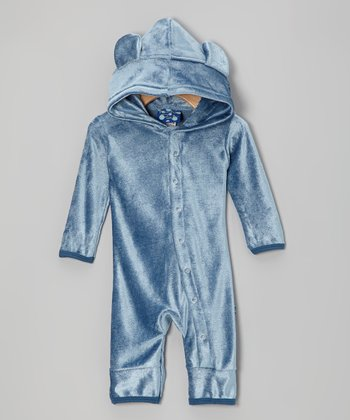 KicKee Pants Twilight Velour Hooded Romper - Infant