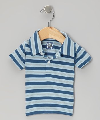 KicKee Pants Twilight Stripe Polo - Infant & Boys