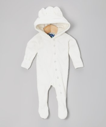 Natural Fleece Hooded Footie - Infant