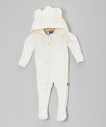 KicKee Pants Natural Velour Footie - Infant
