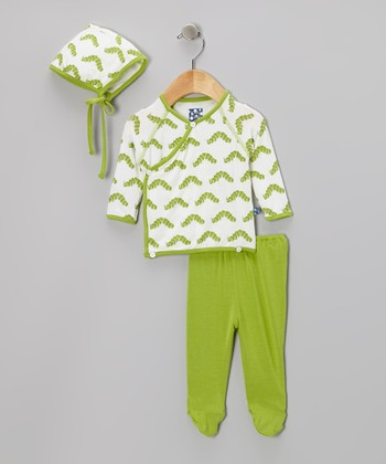 KicKee Pants Natural Caterpillar Wrap Tunic Set - Infant