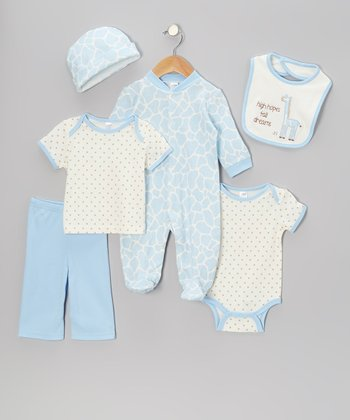 Blue Giraffe Footie Set