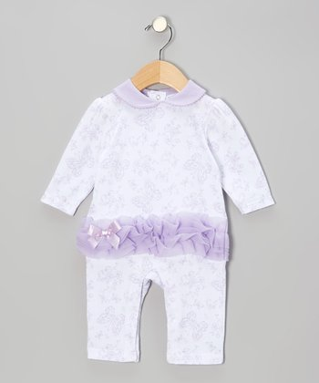 Purple Ruffle Playsuit - Infant