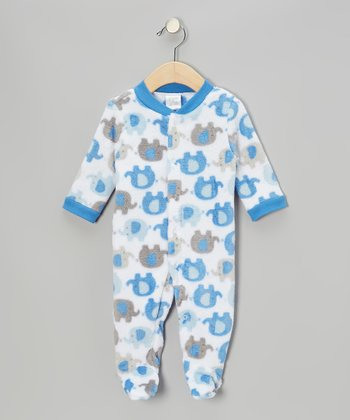 Blue & Gray Elephant Footie