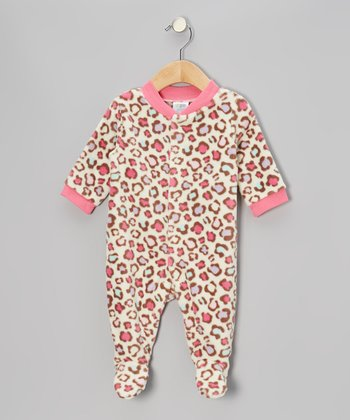 Pink Jungle Cat Footie - Infant