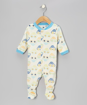 Blue Car Footie - Infant