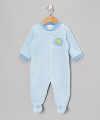 Blue Elephant Footie - Infant