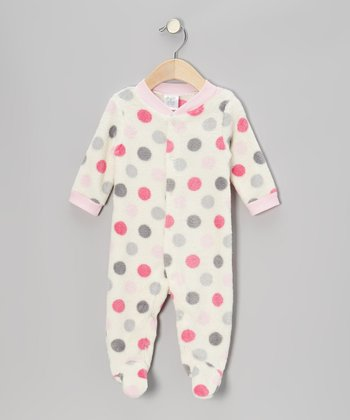 Pink Polka Dot Footie - Infant