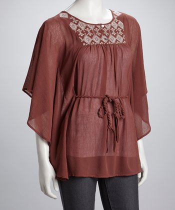 Mauve Embroidered Tunic