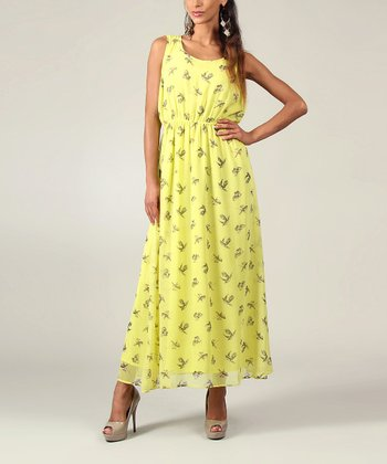 Lime Bird Sleeveless Maxi