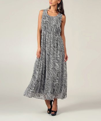 Black & White Zebra Sleeveless Maxi