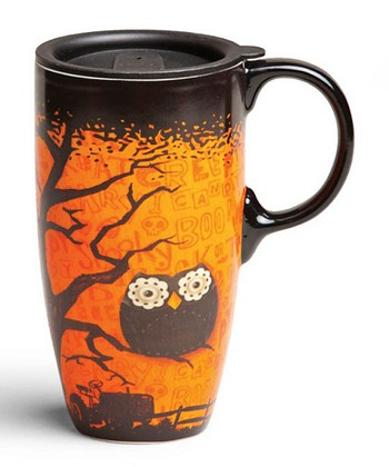 Happy Owl'oween Travel Mug