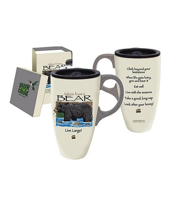 Bear Advice 17-Oz. Ceramic Travel Mug
