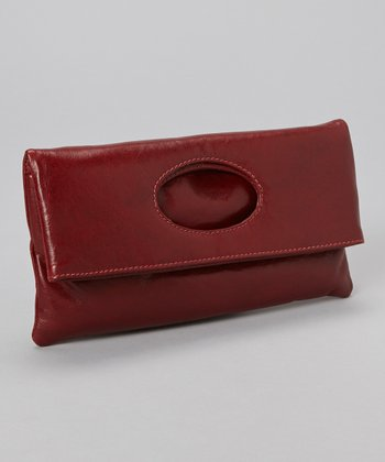 Red Molly Foldover Clutch