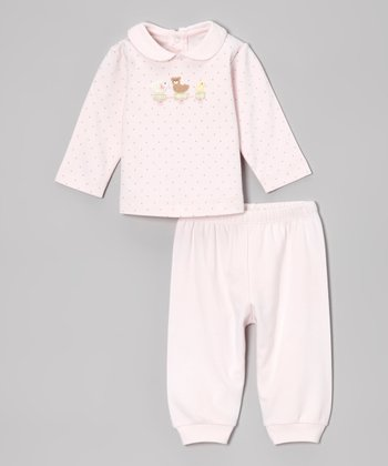Pink Dot Duck Top & Pants - Infant