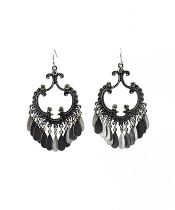 Antique Silver Tone Vintage Earrings