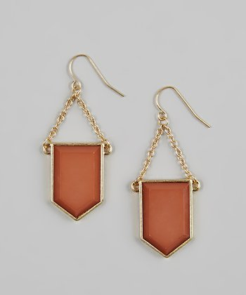 Gold & Rose Geometric Earrings