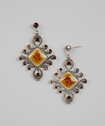 Yellow & Red Vintage Earrings